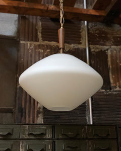 Mid-Century Hand-Blown Hardwired Pendant Light