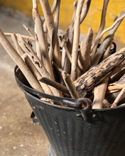 Load image into Gallery viewer, Decorative Tin Bucket w/ Dried Twigs