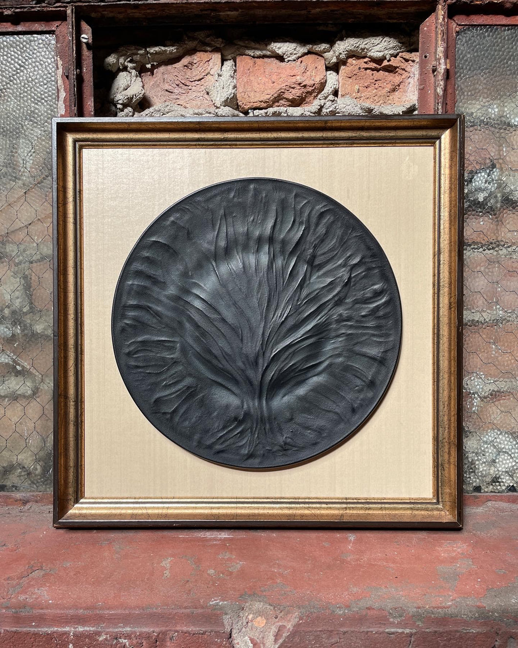 Frame and Matted Ceramic Tree of Life Plate