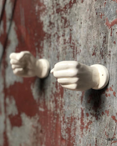 Ceramic Hands-Towel or Candle Holders