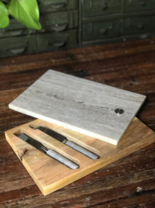 NEWER Marble and Wood Cheese Board