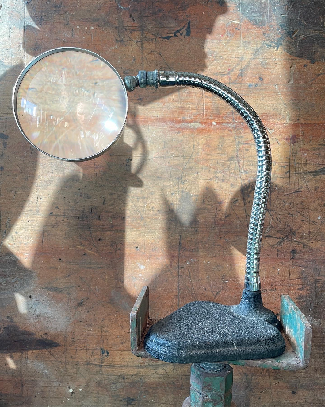 Antique Flex-Arm Magnifying Glass