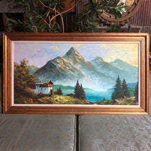 Load image into Gallery viewer, Large Mountainous Landscape Painting by Johnson
