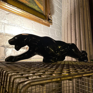 Ceramic Black Panther Lamp