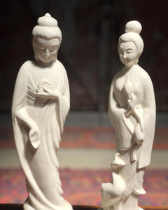 Ceramic Buddhism Figurine Set (2)