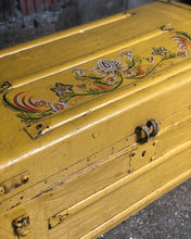 Load image into Gallery viewer, Painted Antique Trunk