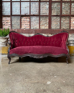 Antique Victorian Tufted Couch