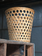 Load image into Gallery viewer, Geometric Woven Wastebasket