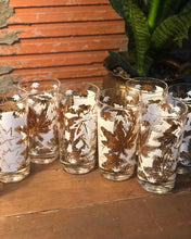 Load image into Gallery viewer, White and Gold Leaf Highball Set (8)