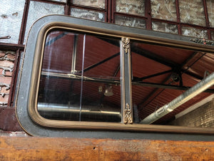 Antique Wide View Mirror w/ Floral Accents