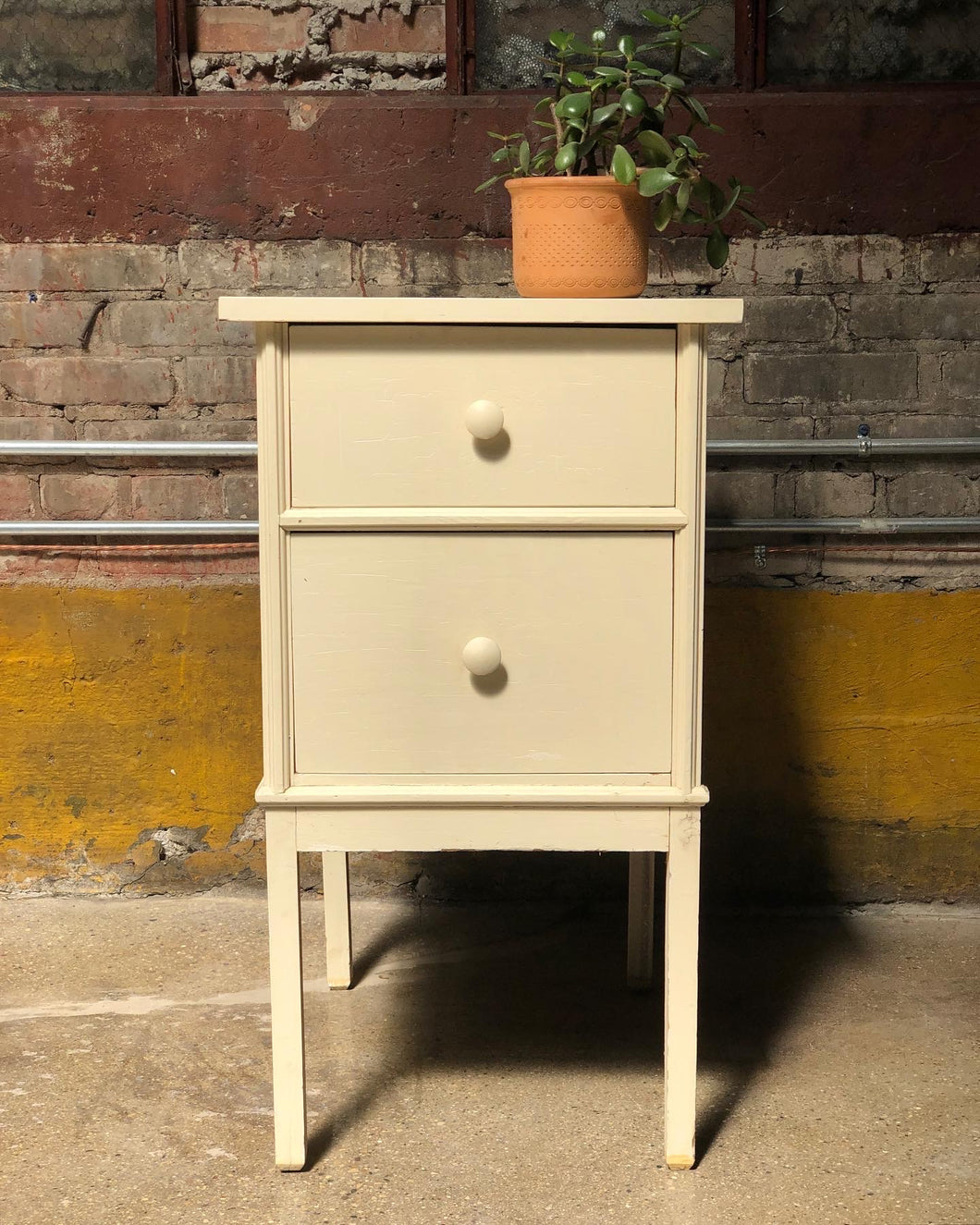 Two-Drawer Cottage Side Table / Nightstand