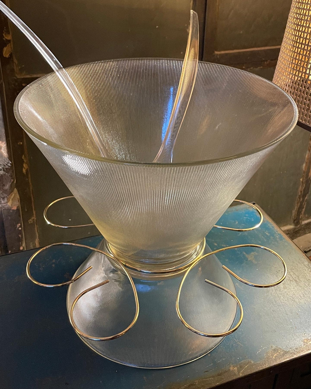 Glass Punch Bowl Set (5)