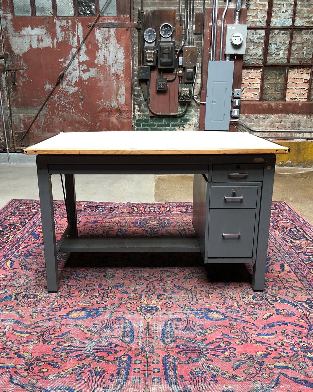 Adjustable/Lockable Drafting Desk w/ Wood Surface