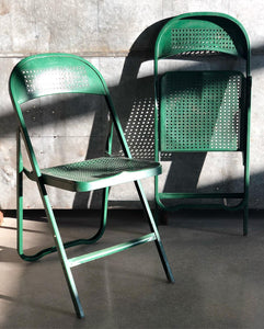 Green Metal Folding Chair (1)