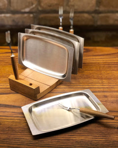 4-Piece Skewer / Tray Set