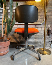 Load image into Gallery viewer, Orange Steelcase Office Chair on Casters