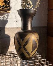 Load image into Gallery viewer, Painted Brass Vase