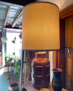 Ceramic Root Beer Barrel / Grenade Lamp