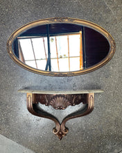 Load image into Gallery viewer, Ornate Mirror and Floating Shelf Set