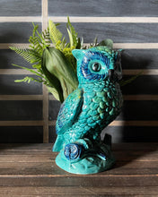 Load image into Gallery viewer, Turquoise Ceramic Owl Planter
