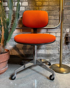 Orange Steelcase Office Chair on Casters