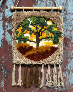 Latch-Hook Tree of Life Wall Hanging
