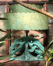 Load image into Gallery viewer, Green Dancers Lamp w/ Fiberglass Shade