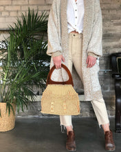 Load image into Gallery viewer, Macrame Handbag w/ Lucite Handle