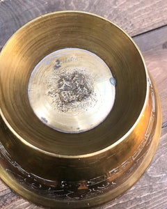 Etched Brass Dragon Bowl