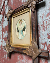 Load image into Gallery viewer, Antique Cross-Framed Portrait