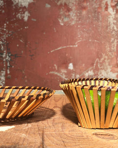 Slatted Basket Set (3)