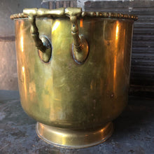 Load image into Gallery viewer, Brass Bucket w/ Faux-Bamboo Flourishes