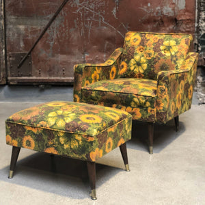 Flora Chair and Ottoman