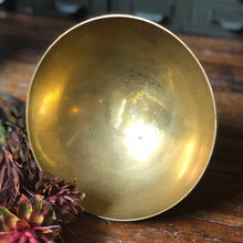 Load image into Gallery viewer, Etched Brass Pedestal Bowl