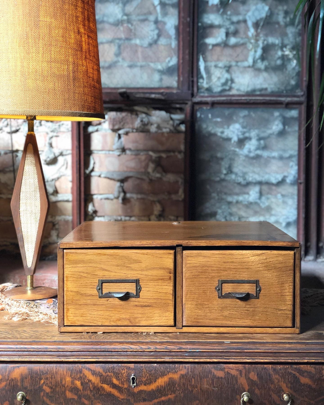 Antique Card Catalogue Filing Cabinet