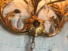 Load image into Gallery viewer, Grand Gold Leaf Wall Sconce