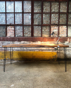 Aged Butcher Block Countertop Desk / Table