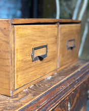 Load image into Gallery viewer, Antique Card Catalogue Filing Cabinet
