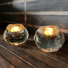 Load image into Gallery viewer, Glass Ice Ball Votive Set (2)