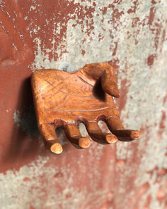Carved Wood Hand Wall Mount