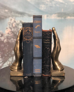 Brass Hand Bookends