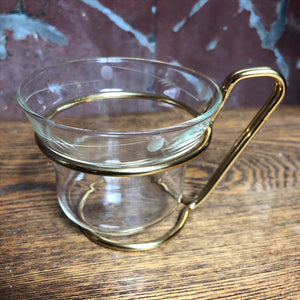 Glass & Gold Service Tray
