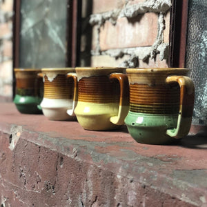 Colorful Glazed Mug Set (4)