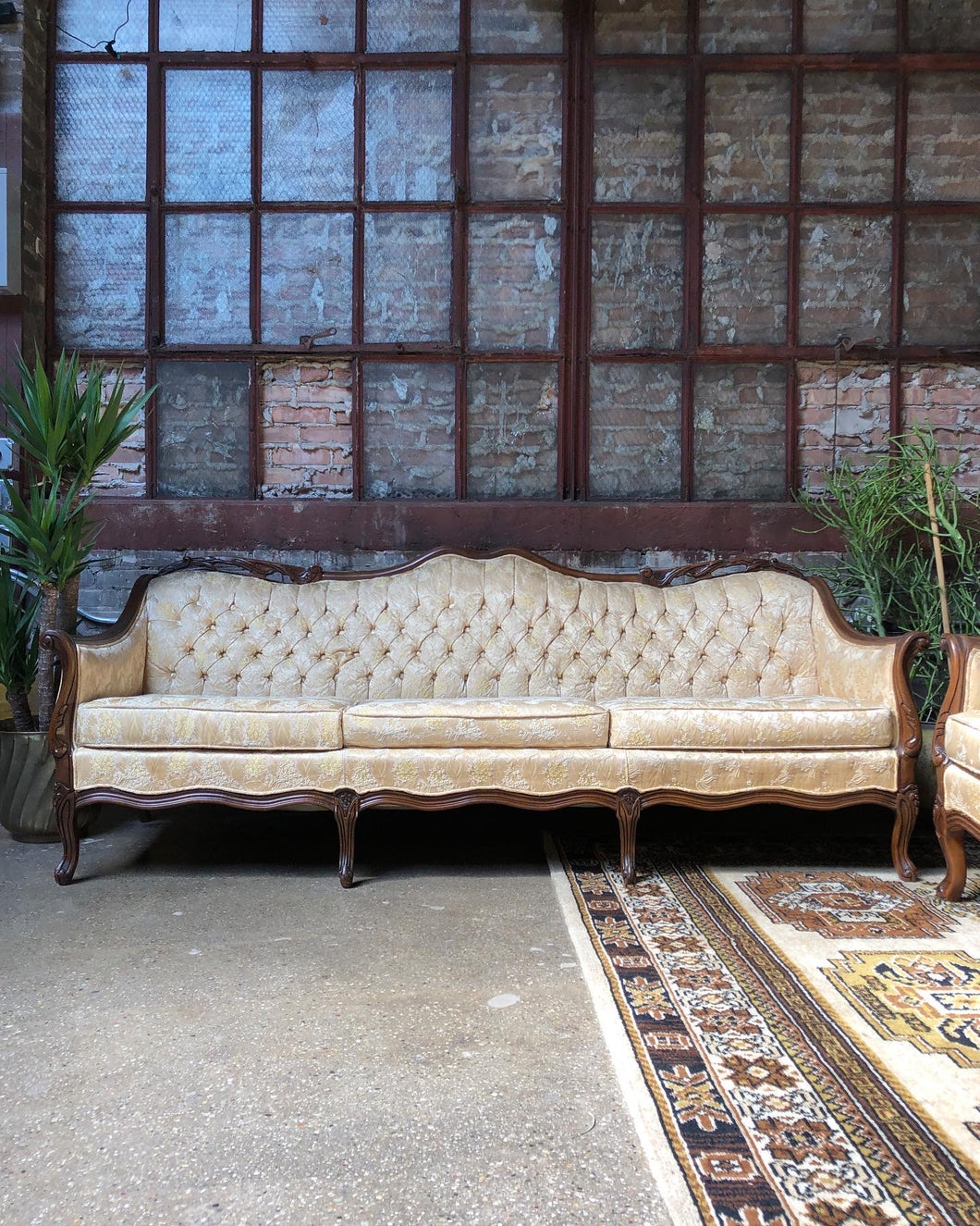 Mellow Gold Victorian Style Couch - LOVE SEAT SOLD