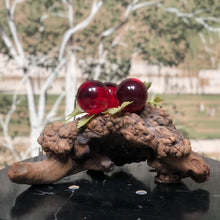 Load image into Gallery viewer, Glass Grapes on Driftwood