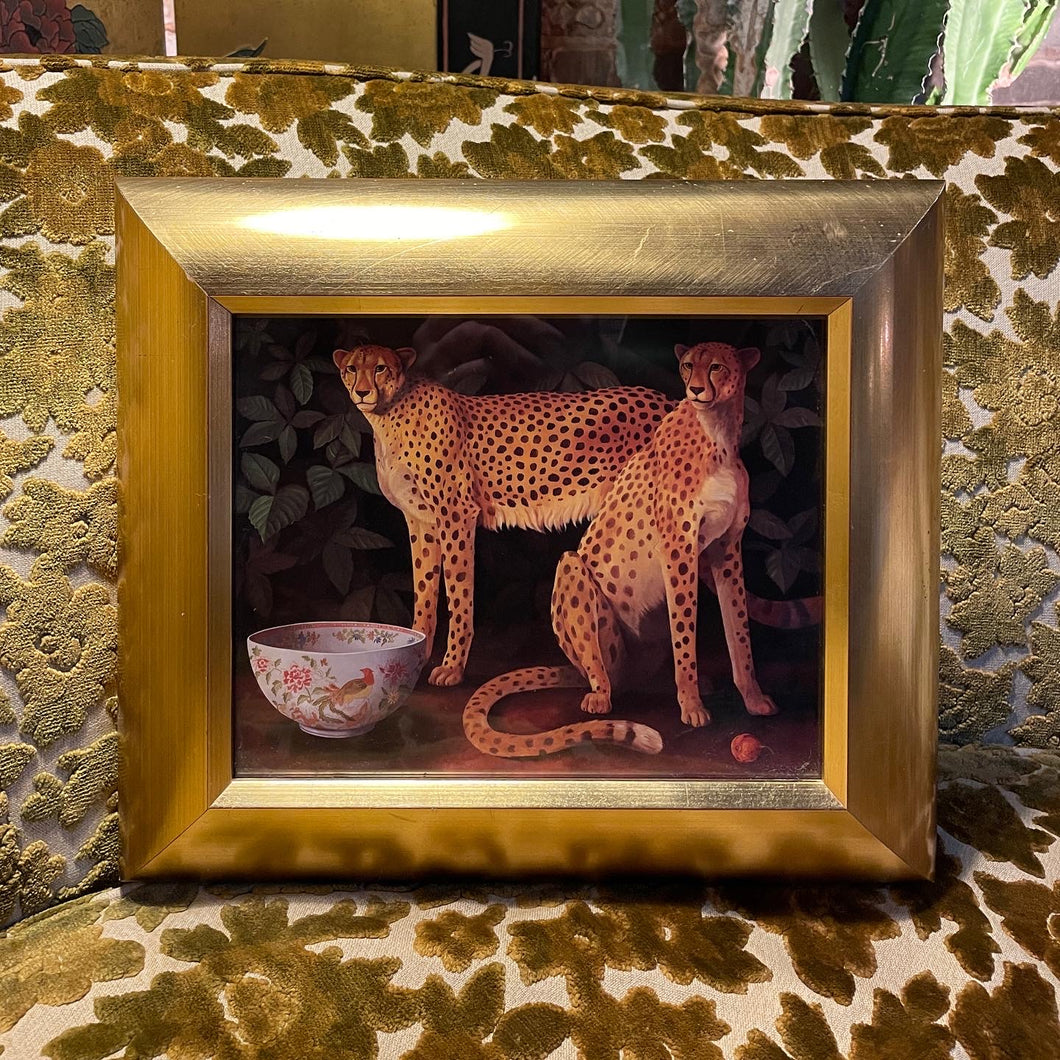 Surreal Framed Cheetah Print