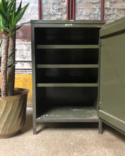 Load image into Gallery viewer, Industrial Side Table / Cabinet