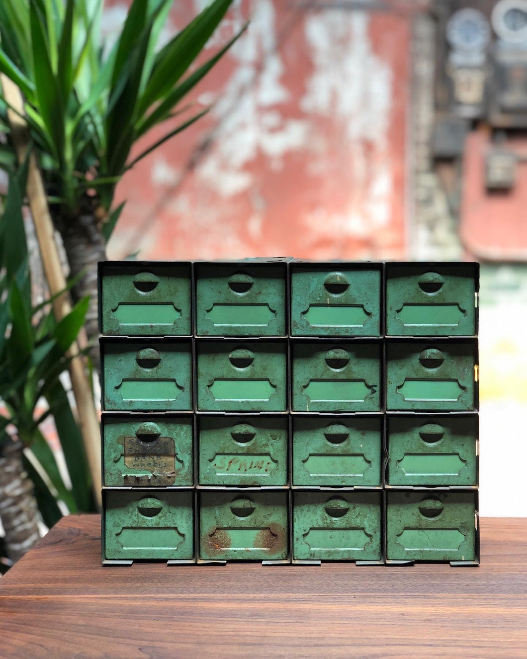 Industrial Green Drawer Set