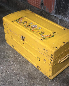 Painted Antique Trunk