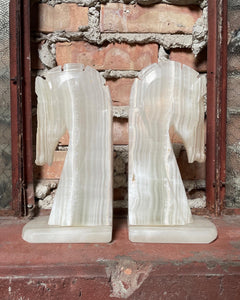 Large Onyx Horse Head Bookend Set (2)